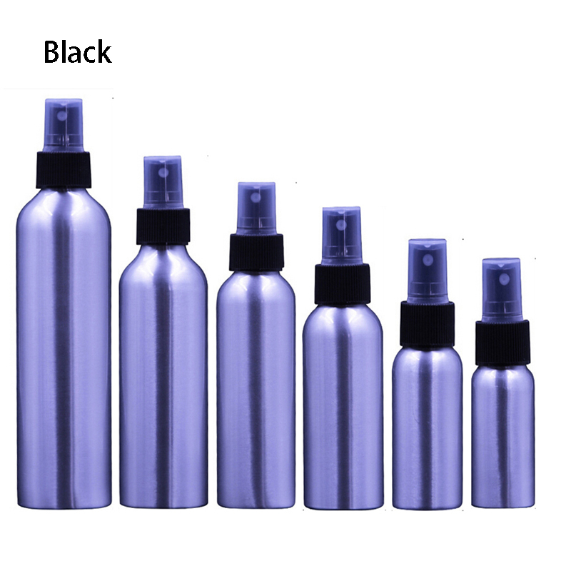 Aluminium Spray Atomiser Bottle Refillable Empty Bottles Black Pump Atomizer For Cosmetic Bottle 30ml/50ml/150ml/250ml 5pcs transparent empty cosmetic spray bottle makeup face lotion atomizer 30ml sample bottles perfume cosmetic refillable sprayer