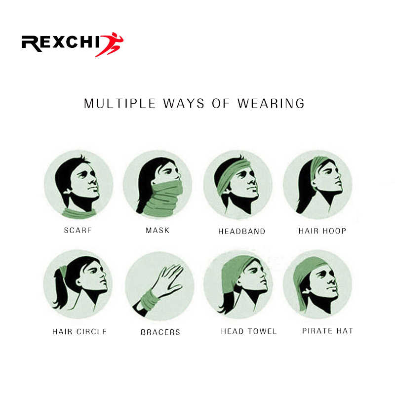 REXCHI Sports Face Mask Summer Winter Training Facemask Cover Running Cycling Bike Riding Neck Warmer Triangle Scarf Bandana