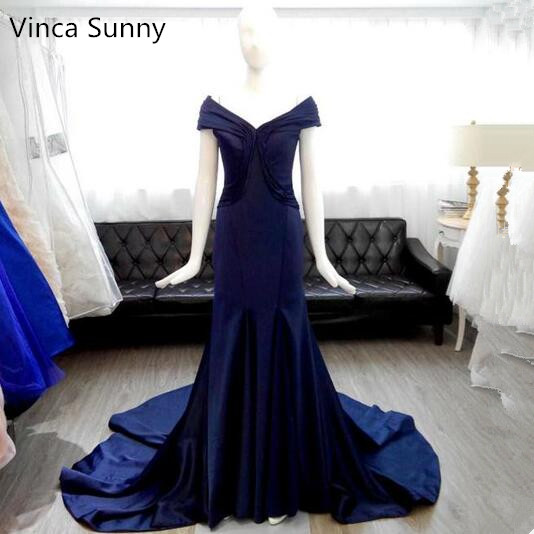 Vinca Sunny Sexy mermaid Satin   prom     dresses   Ladies evening party   dress   gown long robe de soiree vestido de festa