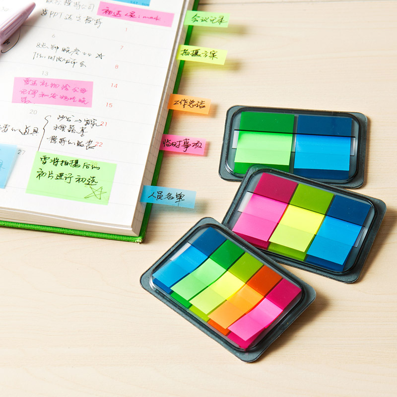 memo notes and more Cloud or rainbow sticky notes for using as bookmarks index tabs