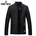 TANGNEST 2017 New Men's Popular Handsome PU Leather Jacket Autumn Warm Black Brown Classical Men Jacket Plus Size M-5XL MWJ650