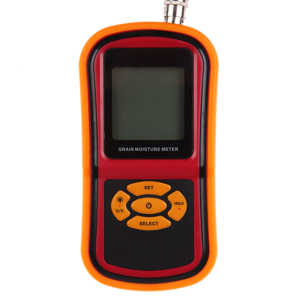 Practical and precision Digital Food Grain Rice Corn Wheat Moisture Temperature Meter Tester Probe digital multi grain moisture meter tester rice wheat rye peas corn oat 6 30% tk25g