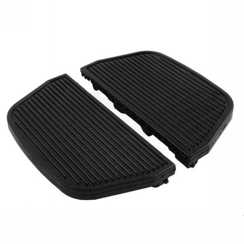 Motorcycle Rear Non-Slip Rubber Footboard Foot Pegs Pad For Harley Road King Street Glide Dyna Softail Slim FLS Fat Boy