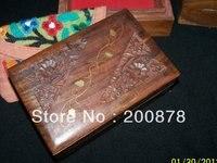 TJB975 קופסא תכשיטי וינטג 'הודי בעבודת יד מעץ, 155*100*60 ס