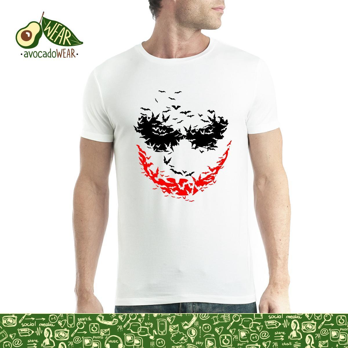 Psycho Smile Bats Mens T shirt S 3XLNew T Shirts Funny Tops Tee New Unisex High Quality Casual Printing 100 Cotton in T Shirts from Men 39 s Clothing