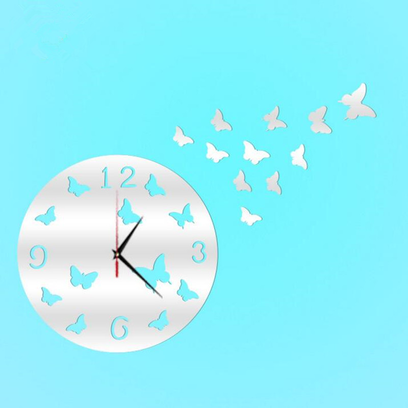 New DIY wall clock modern design The Wall Watch Sticker Clocks for living room home decor