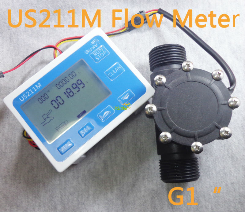 US211M Flow Meter Totalizer Flow Measurement with Nylon Water Flow Sensor USN-HS10TB G1 Hall Flow Sensor 1-100L/min usn моногидрат креатина usn creatine monohydrate 1000гр