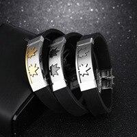 CS3 per K Espresso Amazon hot personalità casuale degli uomini di vento d'acciaio di titanio del silicone braccialetto braccialetto