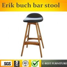 Envío Gratis U-BEST popular nórdica única DWC ceniza de madera taburete de bar clásico erik buch Taburetes de bar