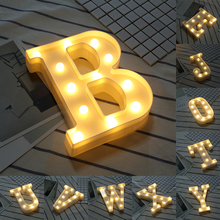 White Plastic Letter LED Night Light Marquee Sign Alphabet Lights Lamp Home Club Outdoor Indoor Wall Decor Valentine's Day Gift diy letter led night light white plastic 26 alphabet lights lamp for birthday new year valentine s day holiday room decoration