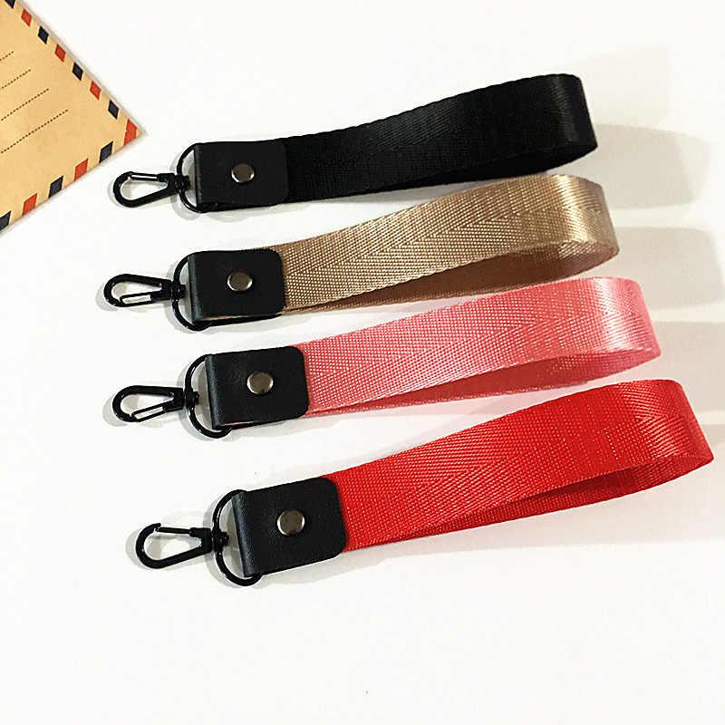 Venda 1pc simples fita chaveiro feminino caso do telefone carteira chaveiro cordão pescoço para encantos saco