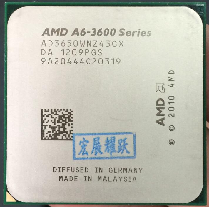 PC AMD A4-Series A6-3650  A6 3650  Quad-Core CPU 100% Working Properly Desktop Processor 100% Working Properly Desktop Processor
