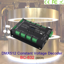32CH DMX512 CV POWER DECODER DC5~24V Support RDM functio output frequency 1K/2K/4K/8K for constant voltage RGB RGBW led strip