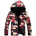 L12 2016 brand men's clothing winter jacket with hoodies outwear Warm Coat Male Solid winter coat Men casual Warm Down Jacket