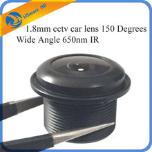 1.8mm cctv car lens 150 Degrees Wide Angle 650nm IR Board Lense for security camera Security CCTV DVR Systems