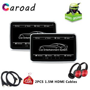 DVD Player 10.1Inch HD 1080P IPS Touch Screen Android 6.0 Rear Seat Entertainment With WIFI/HDMI/USB/SD/Bluetooth/FM MP5 Player Car Monitors     -