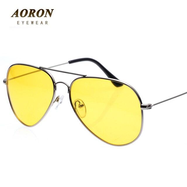 AORON New Polarized Night Vision Goggles Mens Drivers Mirror Anti-glare Sun Glasses oculos feminino sunglasses men LDS-48