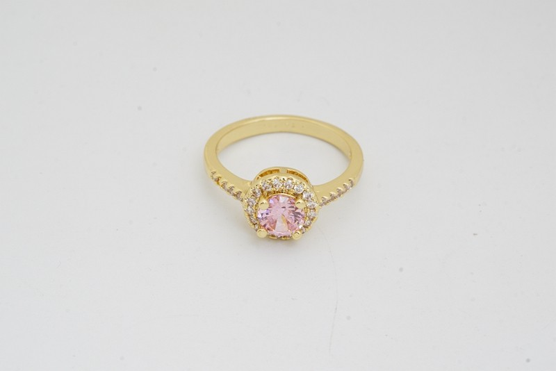 Pink Style Wedding Jewelry Sets Gold Color Fashion Earrings Rings For Women cz crystal Accessories birthday gift 3