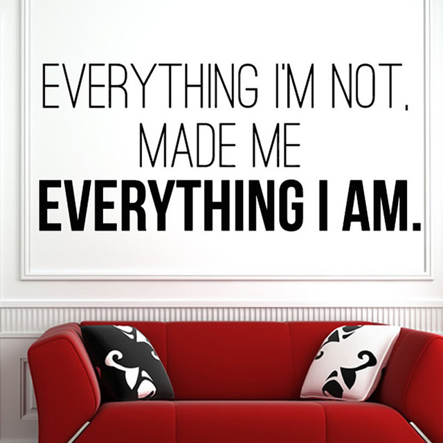 Wall Decor Sayings aliexpress : buy made me everything i am pvc removable wall