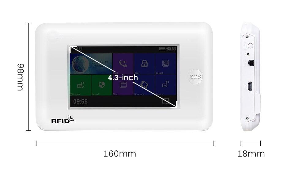 YobangSecurity Wireless WIFI GSM Home Alarm System Android IOS App Video IP Camera Smart Home Burglar Security Fire Alarm KIT - 5
