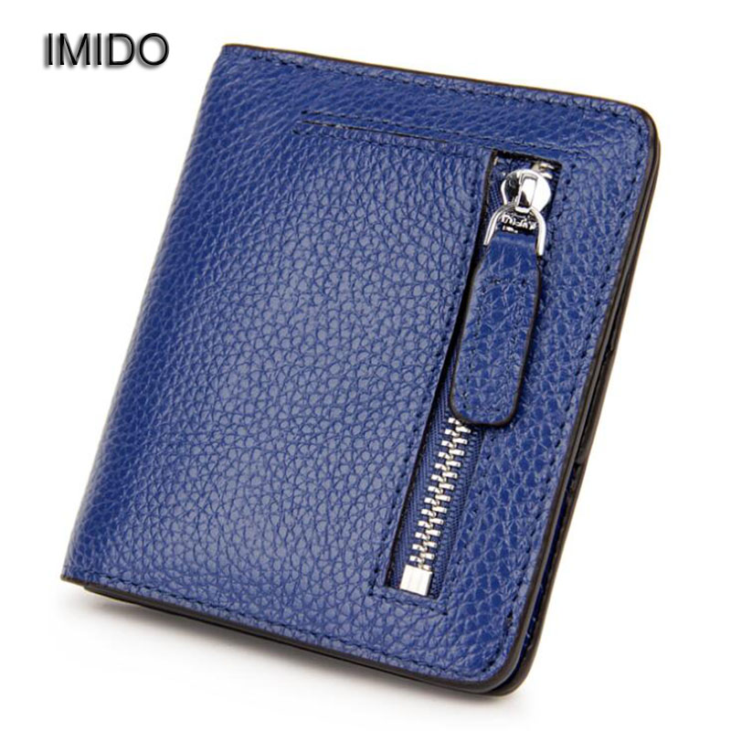 IMIDO 2017 New Luxury brand genuine leather wallet women card holder short wallets female coin purse carteira femme Blue WT016 famous brand cowhide leather knitting wallet women short wallets women coin card holder purse genuine leather purse