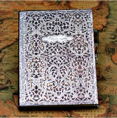 2018 New European Vintage Harcover Notebook Dairy Journal for Gift Four Covers with Hot Stamping and Debossing