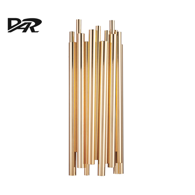 Italy Design Post Modern Wall Lamp Luxury Golden Aluminum Tube
