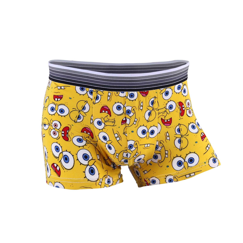 Fashion Silk Underwear Men Cartoon Pants Man Boxers Shorts Comfortable Underpants Soft Breathable Male Panties Funny Men Plants