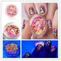 1-2mm Mixed Luminous Nail Art Glitter Decoration Colorful Mini Round Thin Paillette Design For DIY Nail Glitter Tips # 15085