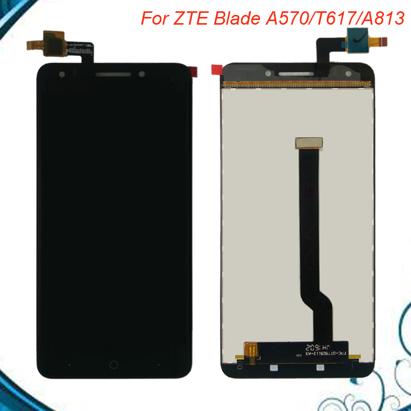 100% Tested OK For 5.5'' ZTE Blade A570 T617 A813 LCD Display+Touch Screen Digitizer Assembly Replacement FreeShipping IN Stock