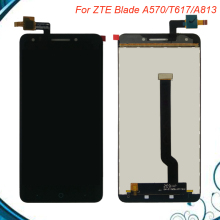 100% Tested OK Original For 5.5'' ZTE Blade A570 T617 A813 LCD Display+Touch Screen Digitizer Assembly Replacement Free Shipping free shipping io data lcd ad191xb2 lcd ad191x2 universal power board eadp 50cf d pressure plate original 100% tested working