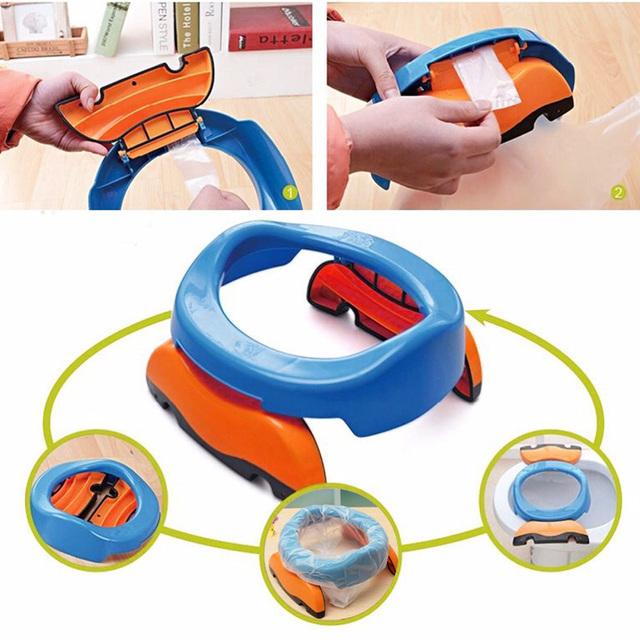 Treinamento Potty Plástico dobrável de Viagem Portátil Cadeira Assento Do Vaso Sanitário para Crianças Do Bebê