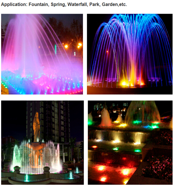 IP68 waterproof AC12V 12w Bridgelux led fountain light led under water lighting Applicable in chlorine(fresh) or Salt(sea) water