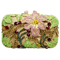 flower shape studded diamond clutch bags Luxury women crystal evening bag prom clutch purse wedding bag sac pochette Purse SC126