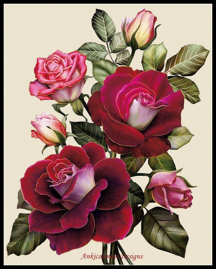 Embroidery Counted Cross Stitch Kits Needlework - Crafts 14 Ct DMC Color DIY ART Handmade Decor - Exquisite Rose