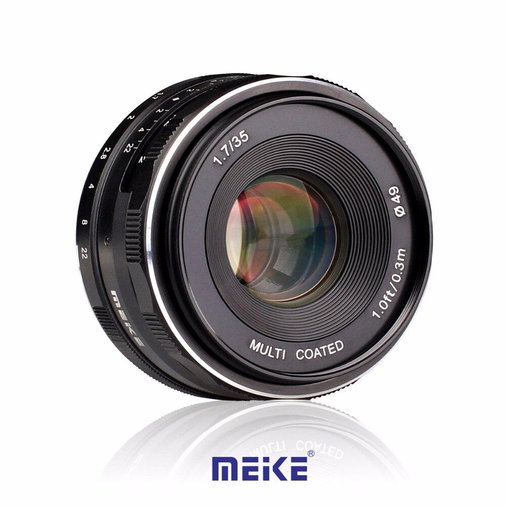 Meike MK-C-35-1.7 35mm f1.7 Large Aperture Manual Focus lens for Canon APS-C M1/ M2/ M3 metco meike mk f af3 fuji микро сингл крупным планом кольцо