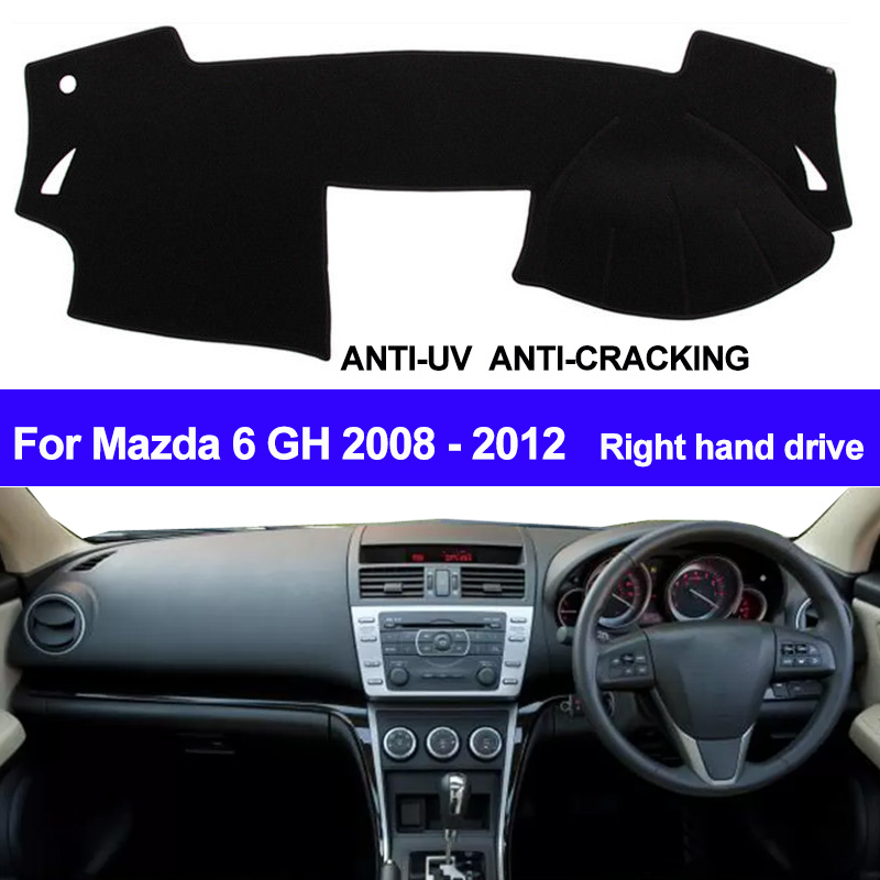 Car Dashboard Cover Dash Mat For Mazda 6 GH 2008 2009 2010 2011 2012 Auto Sun Shade Dash Board Mat Cover Pad Carpe Car Styling