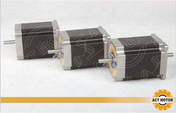 ACT Motor 3PCS Nema23 Stepper Motor 23HS8630B Dual Shaft 6-Lead 270oz-in 76mm 3.0A CE ISO ROHS CNC Laser Grind Machine все цены