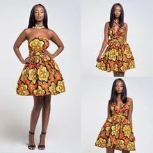 Сексуальное Летнее бальное платье женское Повседневное с цветочным