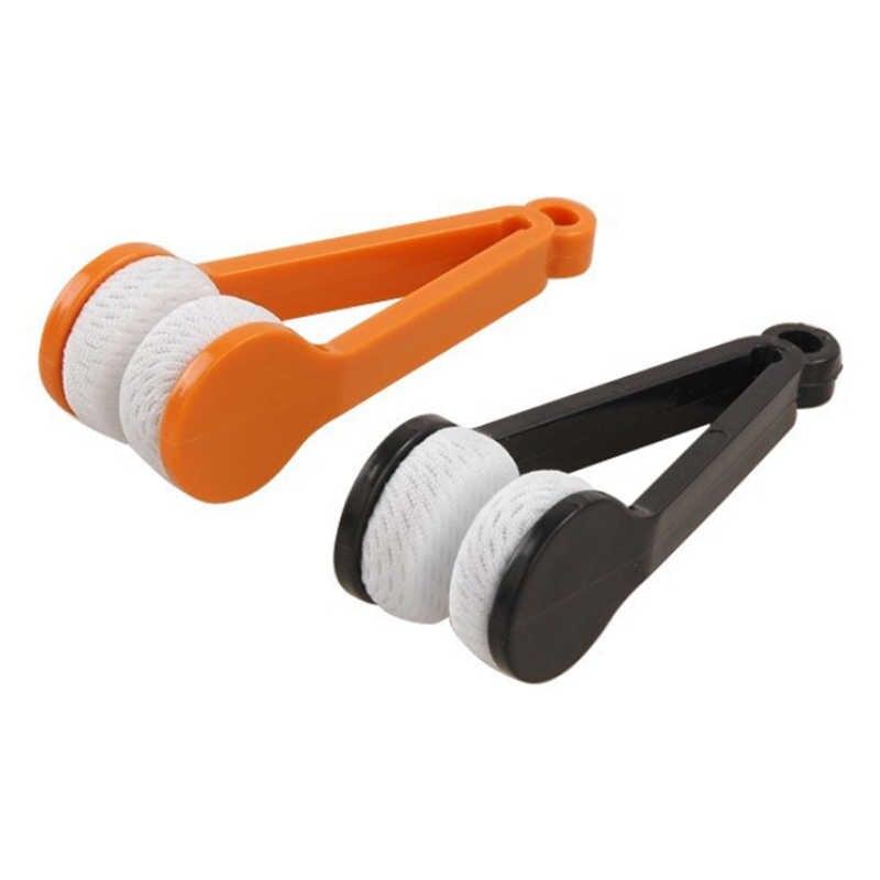1PC 新車太陽バイザー洗浄ブラシメガネ眼鏡マイクロファイバーブラシクリーナークリーニング眼鏡ツールクリーンブラシドロップシッピング