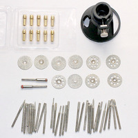 53PC Dremel Locator + Copper chuck + Rotary Accessories for Grinding Polishing Cutting Abrasive Tools