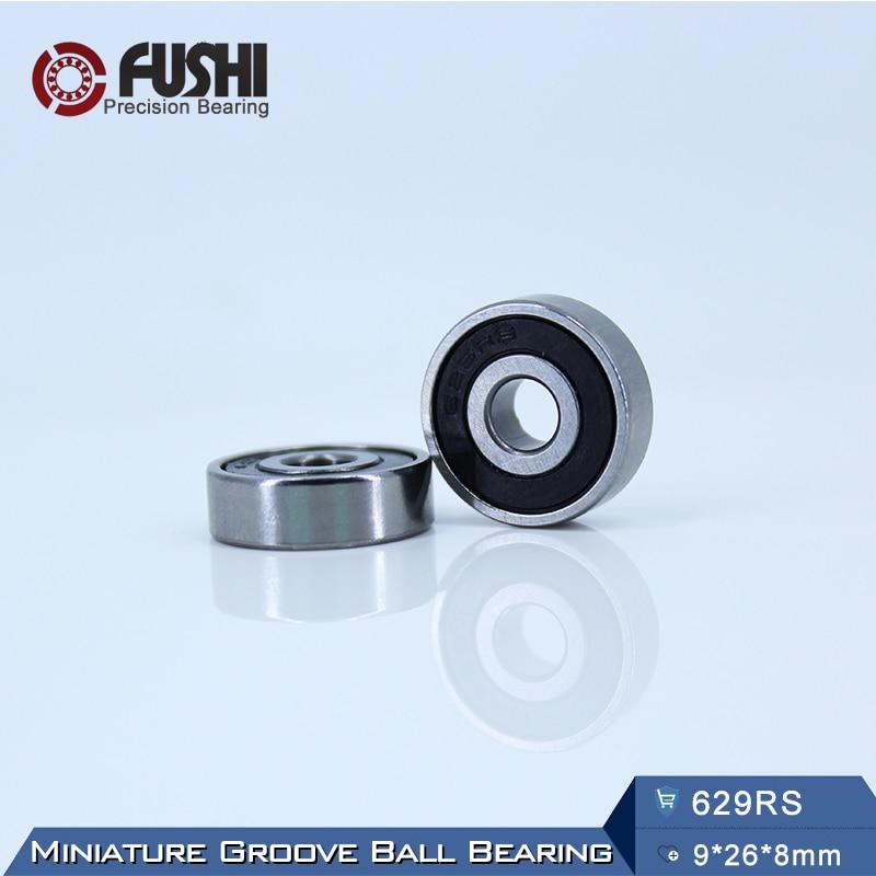629RS Bearing ABEC-5 (10PCS) 9*26*8 mm Miniature Sealed 629-2RS Ball Bearings 629 2RS