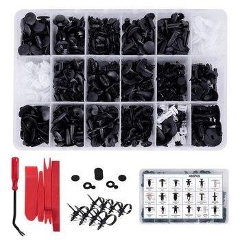 Набор инструментов для автомобиля, ручные инструменты, 435 шт., зажимы для фиксации автомобиля и пластиковые крепежные детали, набор автомоби...