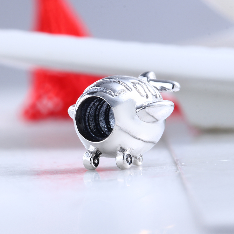 Authentic New 100% 925 Sterling Silver Fit Original Pandora Bracelet Aeroplane Charms DIY Charms Beads for Jewelry Making Gift