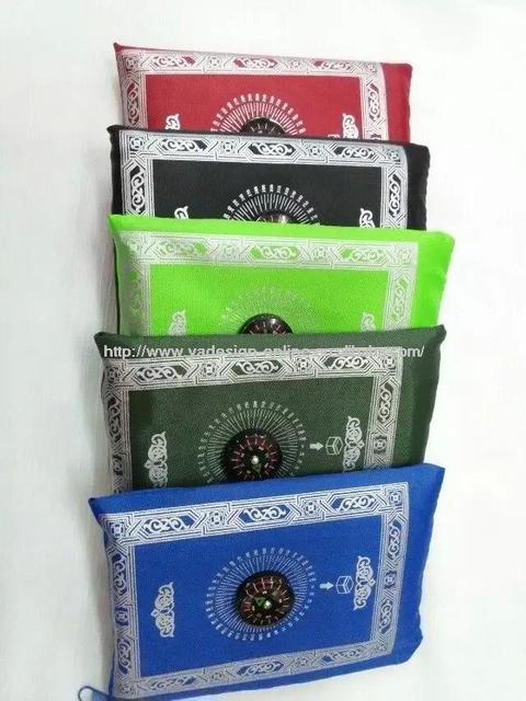 MA003 Travel muslim compass pocket size protable prayer mat 100*60cm