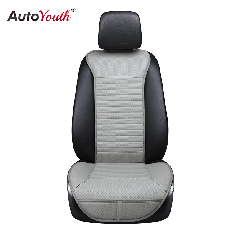 AUTOYOUTH PU Leather Car Seat Cushion 1 PCS Breathable Universal Four Seasons Interior Front Seat Protector Or Car Seat Cover