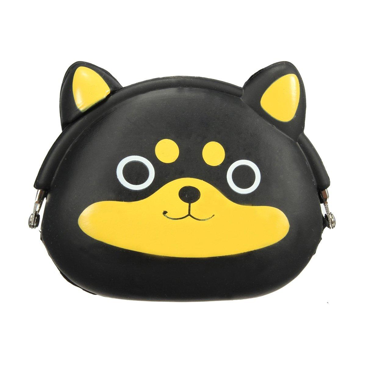 AFBC-Women Girls Wallet Kawaii Cute Cartoon Animal Silicone Jelly Coin Bag Purse Kids Gift Huskies