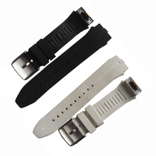 100% pulseira de relógio de garantia original cinta de borracha plástico com antena para lg urbane 2 lte w200 relógio inteligente