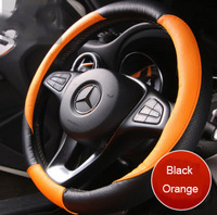 Leather Steering wheel Cover Accessories Universal auto Car steering wheel cover 37CM car accessories car styling sticker