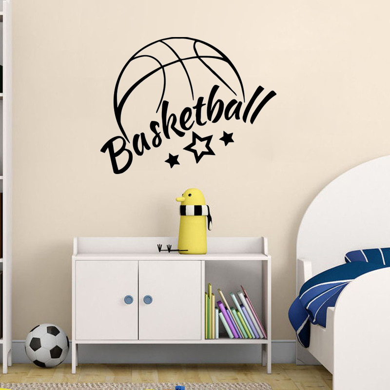 US $5.11 30% OFF YOYOYU Wall Decal Sports Vinyl Wall Stickers For Boys  Bedroom Quotes Basketball Headboard Home Decor Art Mural Child Gifts  SY656-in ...